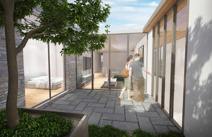 Casa Barcelona: Jardines de estilo moderno por Lozano Arquitectos