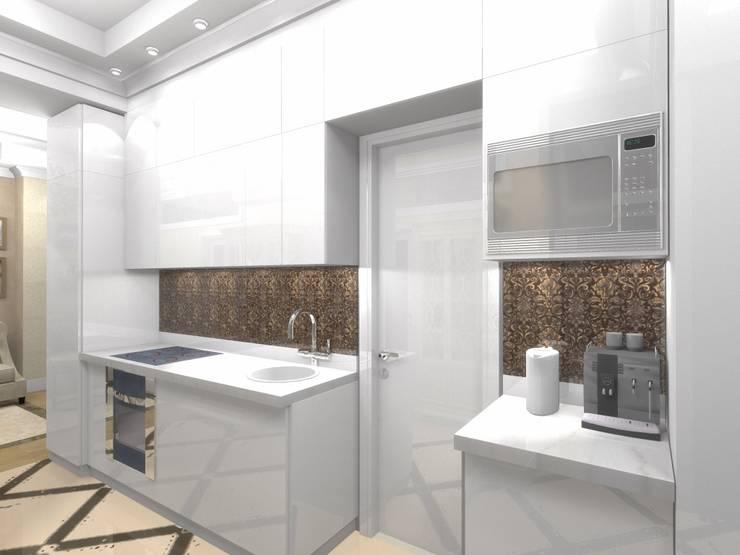 Квартира 57,9 кв.м. в Москве: Кухни в . Автор – АМСД
