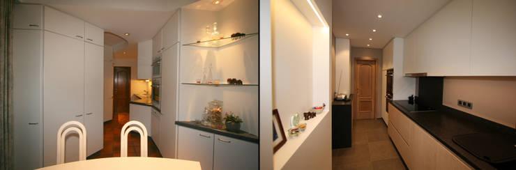 restyling van een keuken naar de hedendaagse stijl:  Keuken door Sfeerontwerp