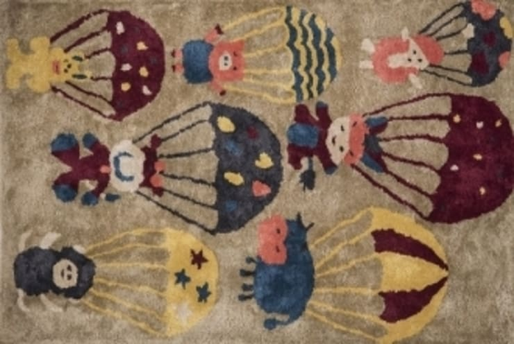 PIGGY AND FRIENDS KIDS CARPET MYRUGS.IN: modern  by MYRUGS.IN,Modern