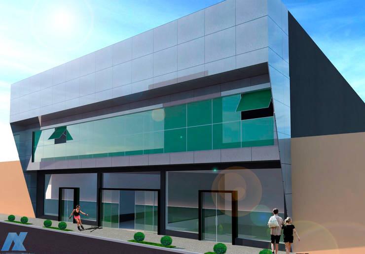 Centro Comercial e Empresarial Ikehara: Espaços comerciais  por NEBO Arquitetura