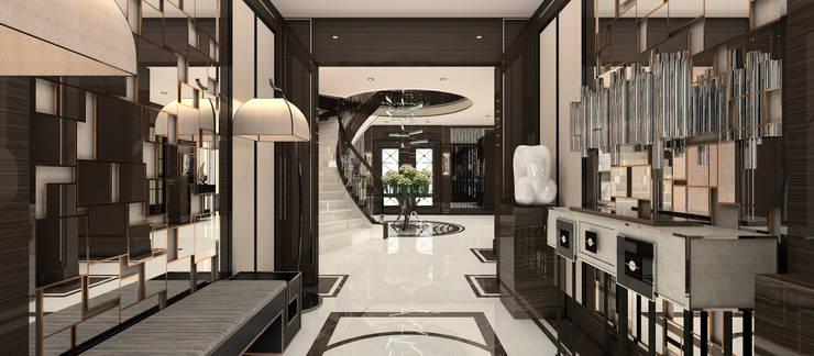 Kerim Çarmıklı İç Mimarlık – A.U.D EVİ:  tarz Koridor ve Hol, Modern