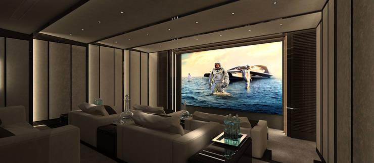 Salle multimédia de style  par Kerim Çarmıklı İç Mimarlık