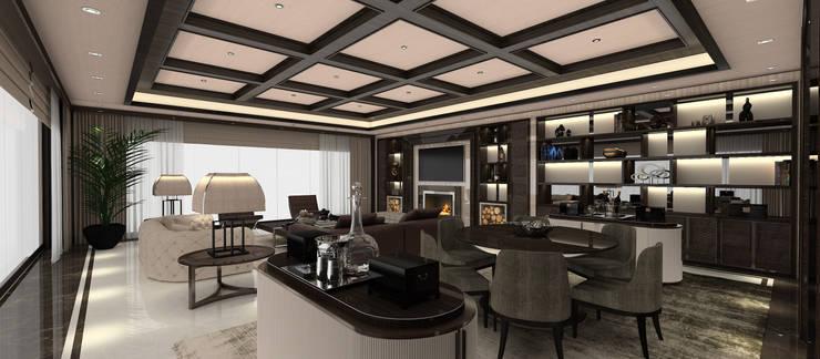 Kerim Çarmıklı İç Mimarlık – A.U.D EVİ:  tarz Oturma Odası