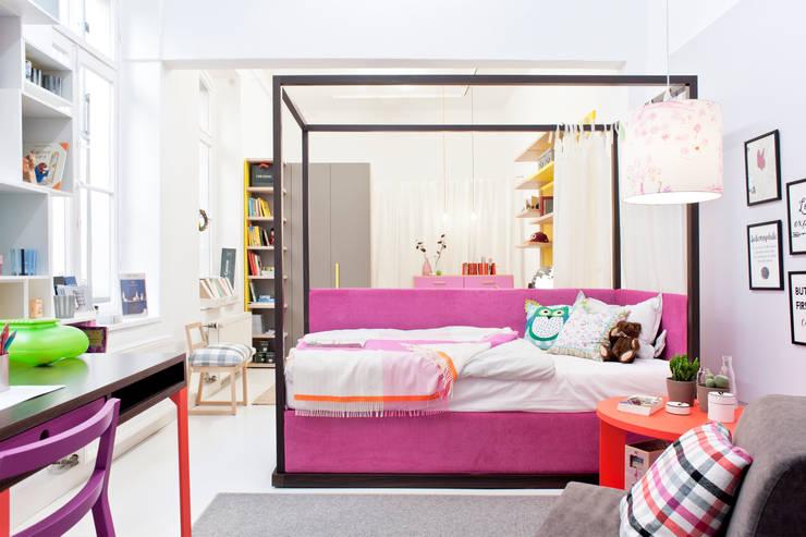 Ein traumhaft modernes Himmelbett! :  Kinderzimmer von MOBIMIO - Räume für Kinder