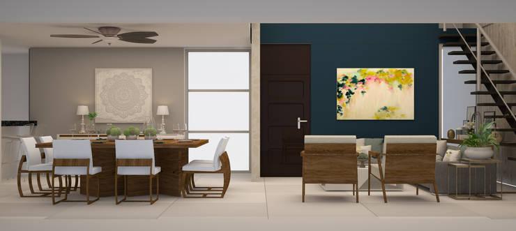 Casa Dzitya: Comedores de estilo  por CONTRASTE INTERIOR
