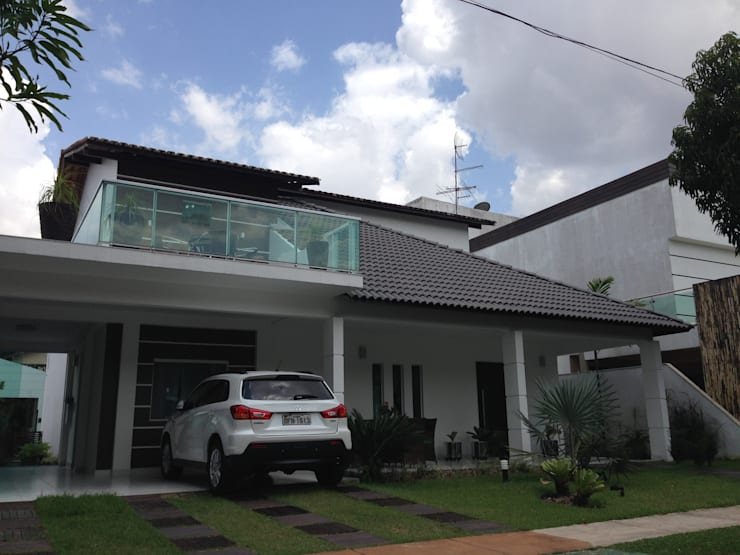 Residência Rodrigues: Casas modernas por Marcos Assmar Arquitetura | Paisagismo