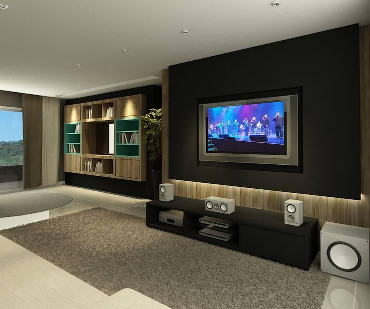 Apartamento (2) em Blumenau - SC - Brasil: Salas de estar  por Modulo2 Arquitetos Associados.
