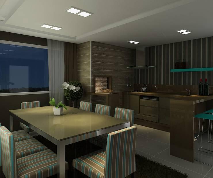 Apartamento (2) em Blumenau – SC – Brasil: Terraços  por Modulo2 Arquitetos Associados.