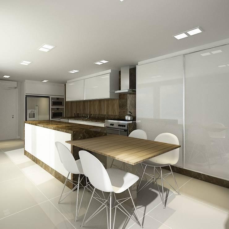 Apartamento (2) em Blumenau – SC – Brasil: Cozinhas  por Modulo2 Arquitetos Associados.