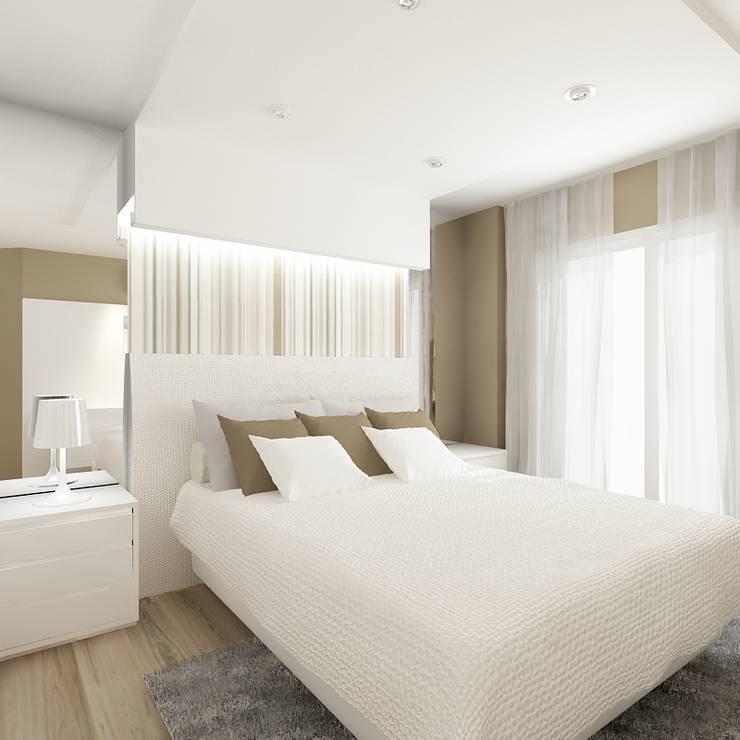 Apartamento (2) em Blumenau – SC – Brasil: Quartos  por Modulo2 Arquitetos Associados.