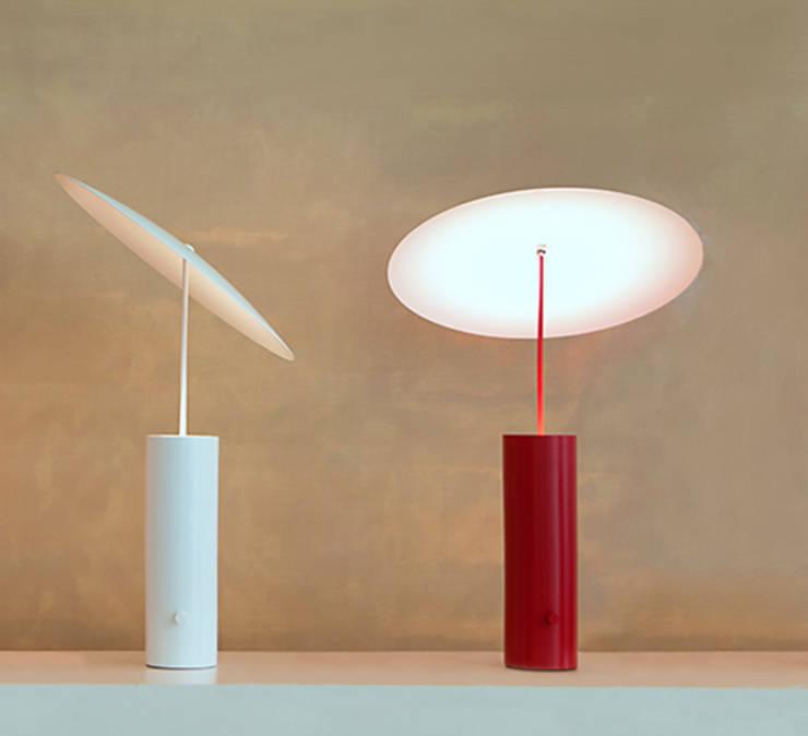 Lampe à Poser, LED, Parasol, Rouge, H50CM   Innermost: Bureau De
