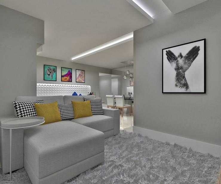 Apartamento Costa Rodrigues Salas de estar modernas por Marcos Assmar Arquitetura | Paisagismo Moderno