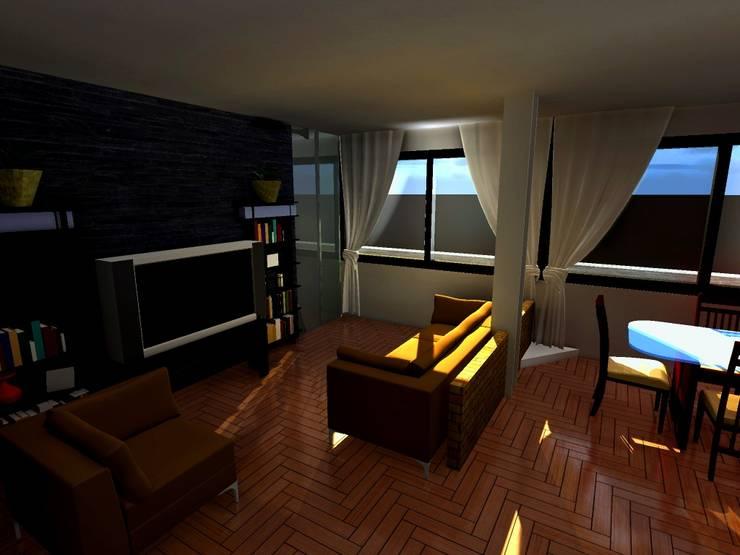 Casa Sanchez: Salas / recibidores de estilo  por Arquitecto Eduardo Carrasquero