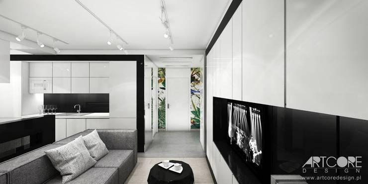Wonderland - projektowanie wnętrz mieszkania w Krakowie - salon: styl , w kategorii Salon zaprojektowany przez ArtCore Design