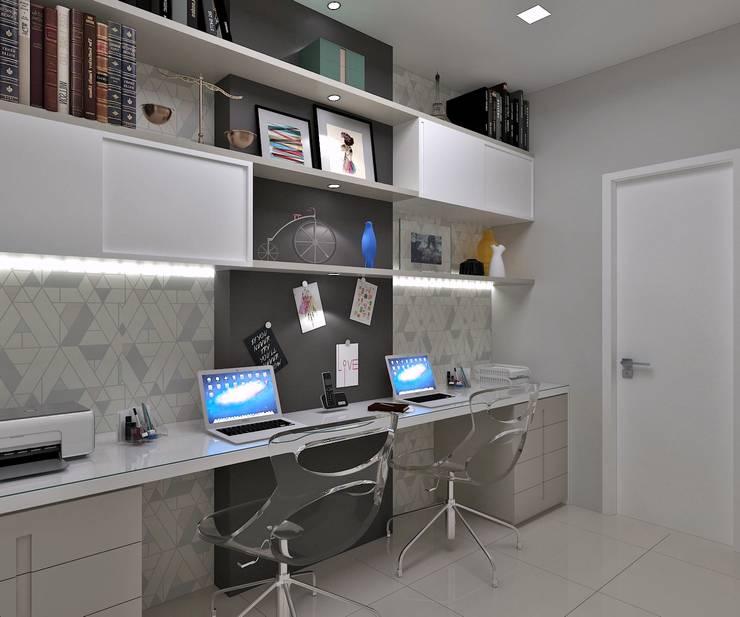 Apartamento Costa Rodrigues Escritórios modernos por Marcos Assmar Arquitetura | Paisagismo Moderno