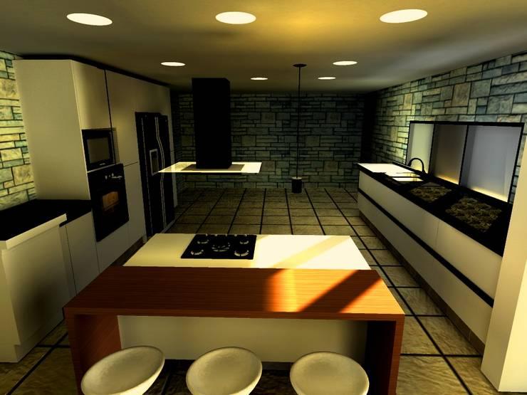 Casa Navarro: Cocinas de estilo moderno por Arquitecto Eduardo Carrasquero