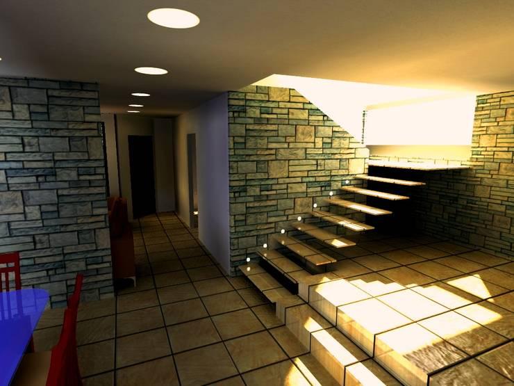 Casa Navarro: Pasillos y vestíbulos de estilo  por Arquitecto Eduardo Carrasquero