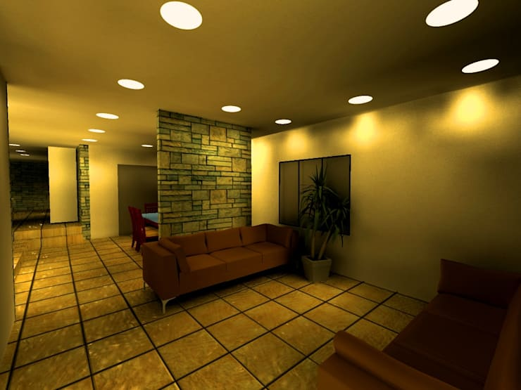 Casa Navarro: Salas / recibidores de estilo moderno por Arquitecto Eduardo Carrasquero