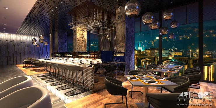 Stardust - projekt wnętrza restauracji: styl , w kategorii Jadalnia zaprojektowany przez ArtCore Design,Nowoczesny