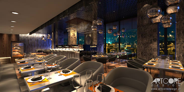 Stardust – projekt wnętrza restauracji: styl , w kategorii Jadalnia zaprojektowany przez ArtCore Design