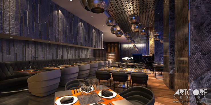 Stardust – projekt wnętrza restauracji: styl , w kategorii Jadalnia zaprojektowany przez ArtCore Design,Nowoczesny