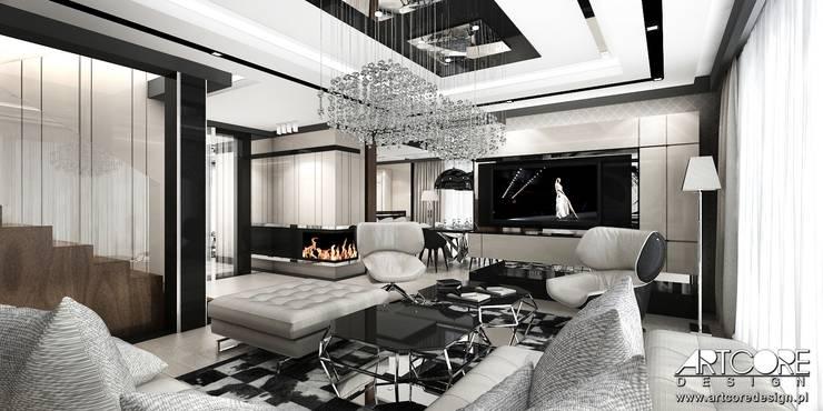 Summer Wine - projekt wnętrza domu: styl , w kategorii Salon zaprojektowany przez ArtCore Design,Nowoczesny