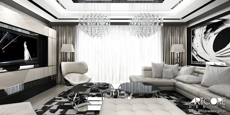 Summer Wine – projekt wnętrza domu: styl , w kategorii Salon zaprojektowany przez ArtCore Design,Nowoczesny
