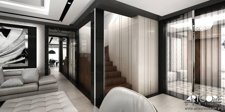 Summer Wine – projekt wnętrza domu: styl , w kategorii Korytarz, przedpokój zaprojektowany przez ArtCore Design,Nowoczesny