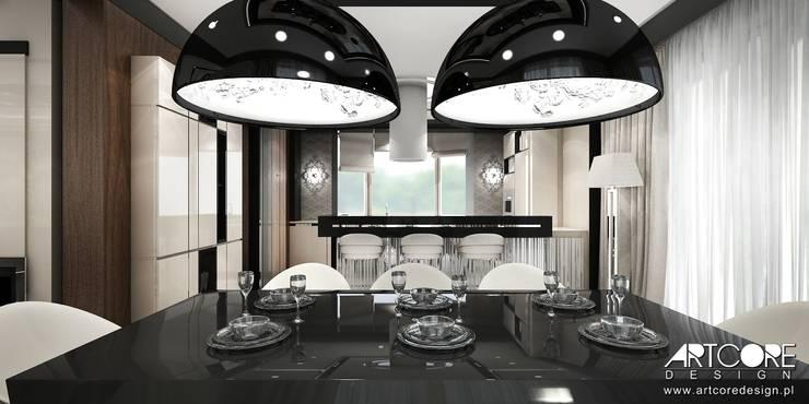 Summer Wine – projekt wnętrza domu: styl , w kategorii Jadalnia zaprojektowany przez ArtCore Design,Nowoczesny