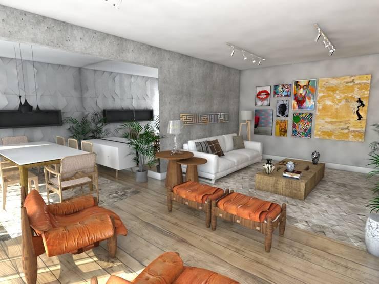 Apartamento : Salas de jantar modernas por Studio M Arquitetura