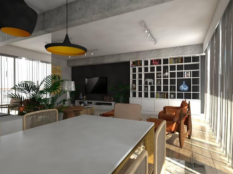Apartamento : Salas de jantar  por Studio M Arquitetura