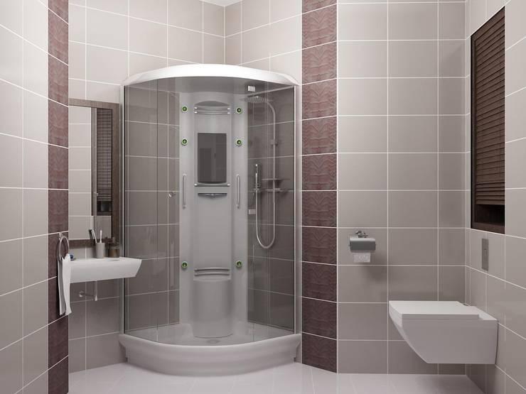 КВАРТИРА МОЛОДОГО И НЕ ЖЕНАТОГО.: Ванные комнаты в . Автор – СТУДИЯ ДИЗАЙНА ЭЛИТНЫХ ИНТЕРЬЕРОВ АЛЕКСАНДРА ЕЛАШИНА.