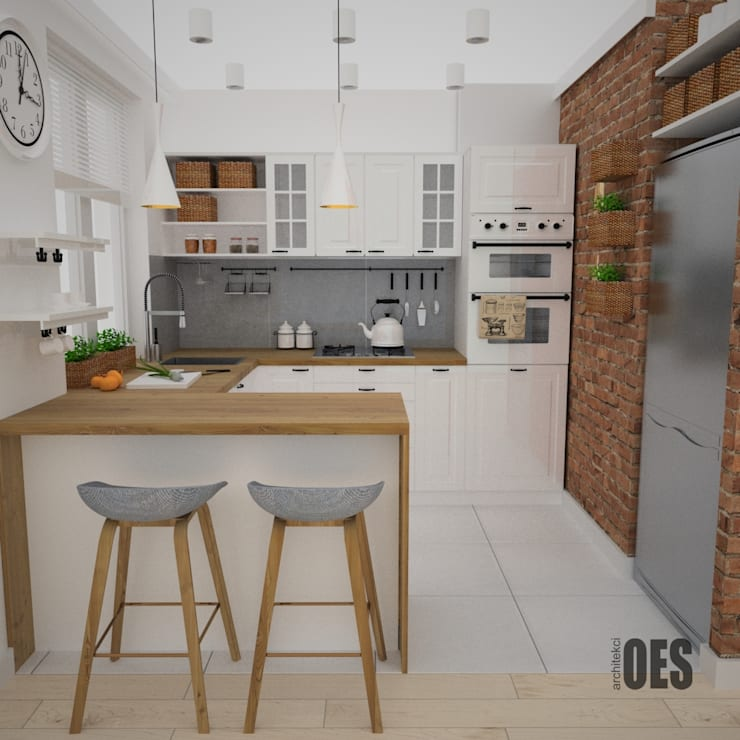 OES architekci의  주방