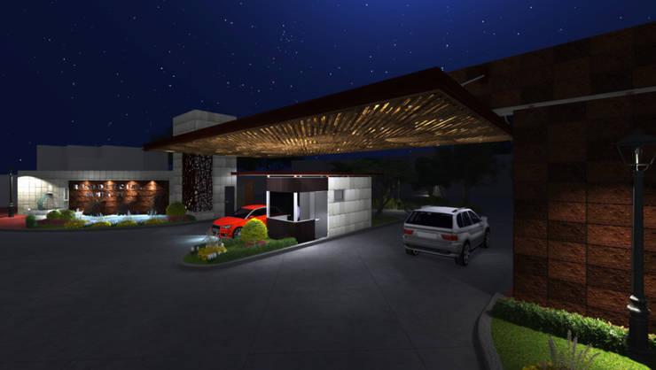 Acceso Santa Fe :  de estilo  por AQ3 Arquitectos