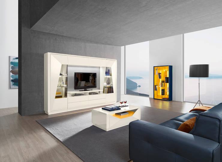 Mobiliário de sala de estar Living room furniture www.intense-mobiliario.com  Diamant DM1 http://intense-mobiliario.com/product.php?id_product=9797: Sala de estar  por Intense mobiliário e interiores;