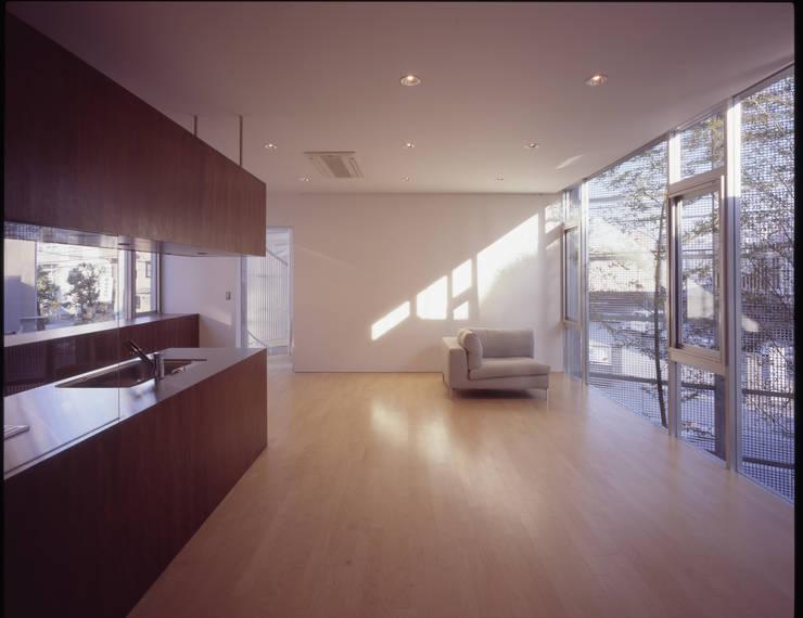 LDK: 有限会社Kaデザインが手掛けたキッチンです。