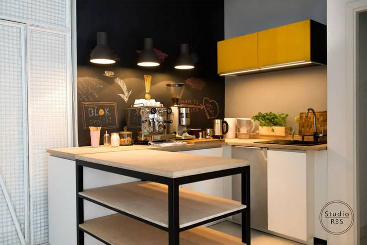 Studio fotograficzne: styl , w kategorii Gastronomia zaprojektowany przez Studio R35,Industrialny