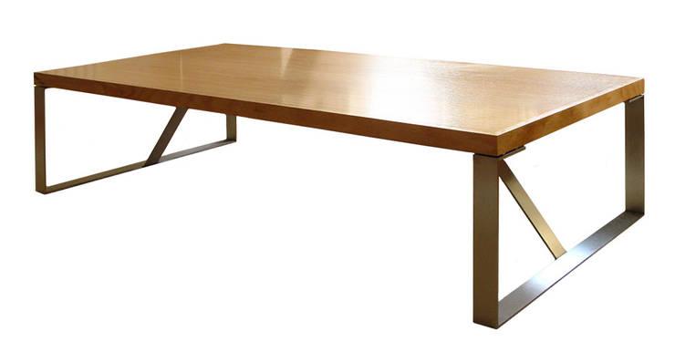 ława SPEKTRUM: styl , w kategorii  zaprojektowany przez Modestwork,Skandynawski Drewno O efekcie drewna