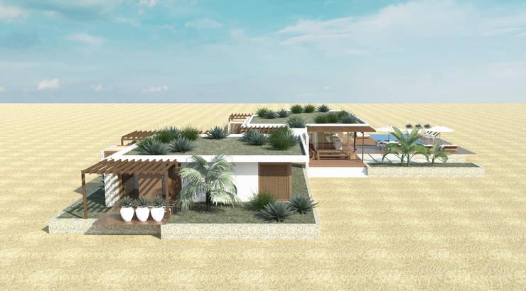 fachadas: Casas  por Renato Teles Arquitetura