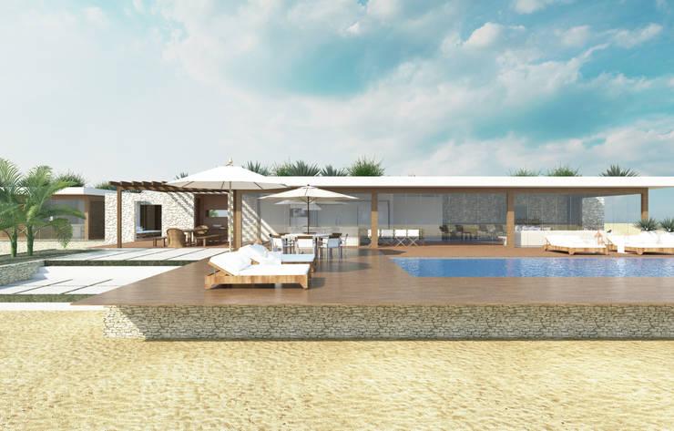 piscina: Piscinas  por Renato Teles Arquitetura