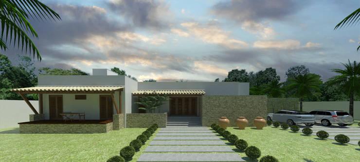 Entrada principal: Casas campestres por Renato Teles Arquitetura