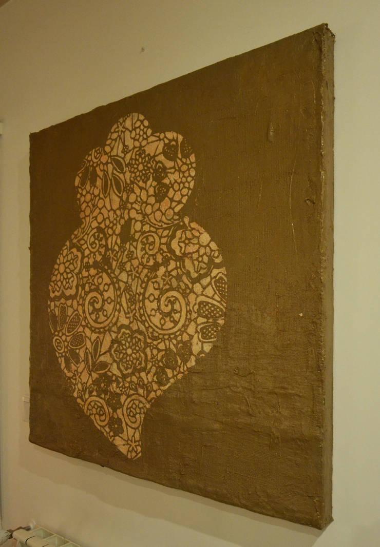Coração ás Rendas (Golden Heart): Arte  por Blue Art Factory