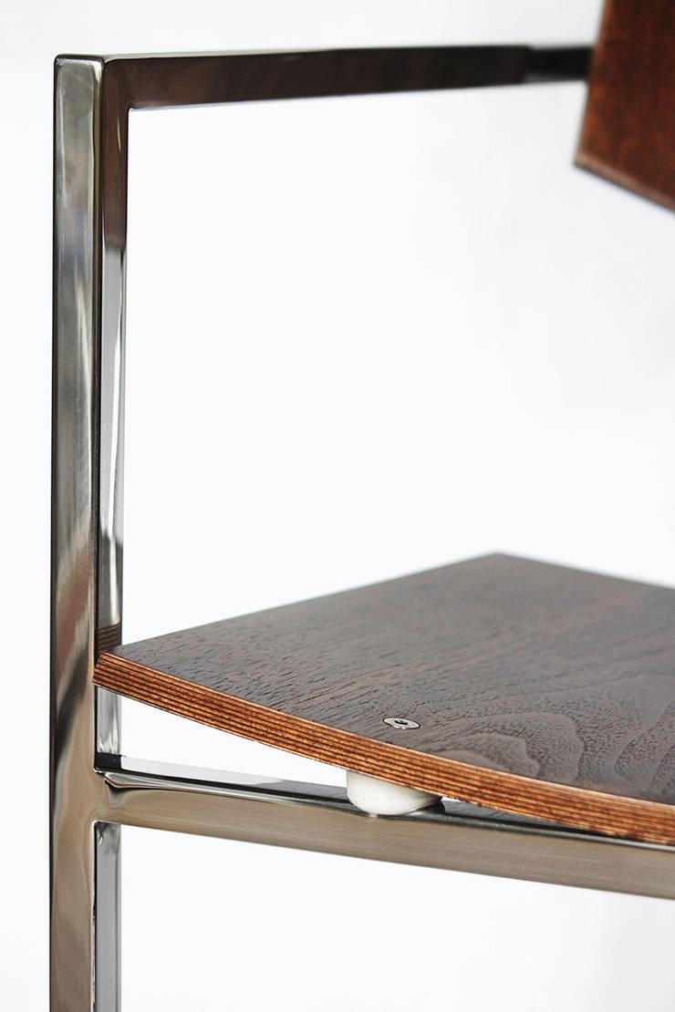 krzesło ZEBRANO: styl , w kategorii  zaprojektowany przez Modestwork,Skandynawski Żelazo/Stal