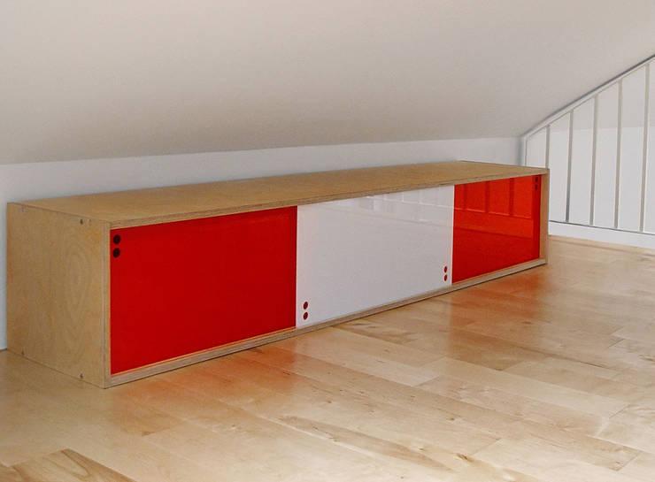 półka PLY BOARD: styl , w kategorii  zaprojektowany przez Modestwork,Skandynawski Sklejka
