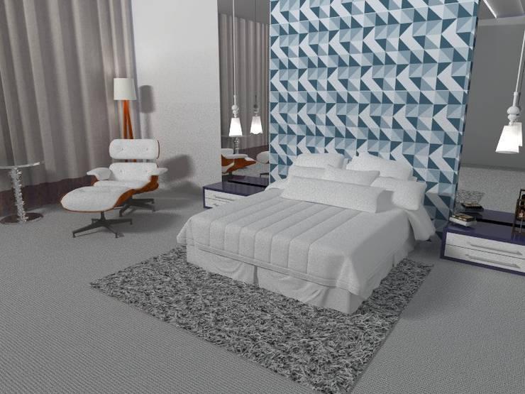 Quarto de Casal:   por Carvalho Arquitetura e Interiores
