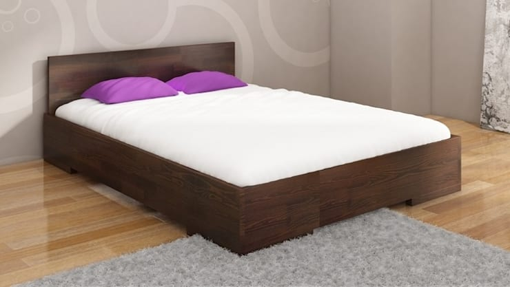 Łóżko sosnowe Visby Loren High: styl , w kategorii Sypialnia zaprojektowany przez visby.pl