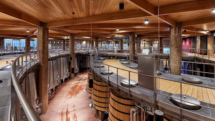Tekeli-Sisa Mimarlık Ortaklığı – Vinero Şarap Fabrikası:  tarz Yeme & İçme, Endüstriyel