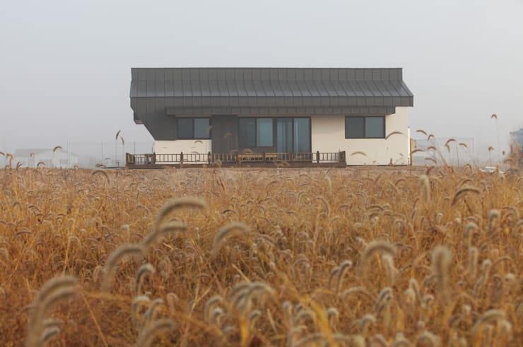 Houses by 집스터디 건축 스튜디오_JIP STUDY ARCHITECTS STUDIO