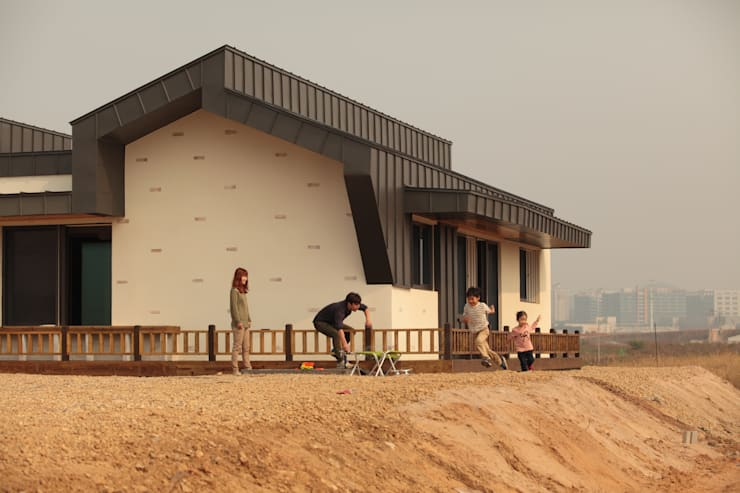 Casas modernas por 집스터디 건축 스튜디오_JIP STUDY ARCHITECTS STUDIO